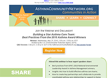 Register for the Building a Star Asthma Care Team: Best Practices From the 2016 Asthma Award Winners Webinar Email