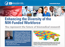 Enhancing the Diversity of the NIH-Funded Workforce Flyer