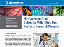 NIH Common Fund Gabriella Miller Kids First Pediatric Research Program Flyer