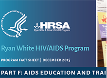 RWHAP AIDS Education and Training Centers Program Factsheet