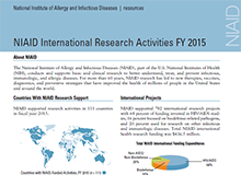 NIAID Research Activities FY 2015 Factsheet