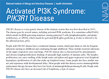 Activated PI2K Syndrome Factsheet