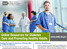 Online Resources for Diabetes Care and Promoting Healthy Habits Flyer