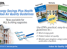 Energy Savings Plus Health Indoor Air Quality Guidelines Flyer