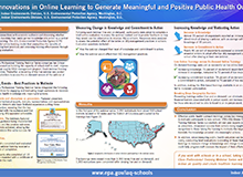 Using Innovations in Online Learning to Generate Meaningful and Positive Public Health Outcomes Poster